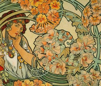 Finishing of the exhibition «Alphonse Mucha and the Line of Art Nouveau»